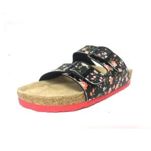 Flower Black sandal